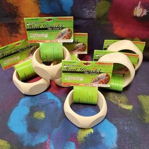 Other - Unfinished Wood Bangle Pentagon Set of 6 large